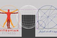 Vitruvian Fitness mural